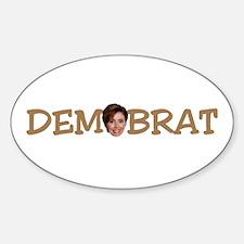 Pelosi Democrat Brat Oval Decal