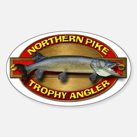 Northern Pike Sticker (Oval)