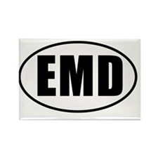 EMD-Oval-whitebg-no-outline Rectangle Magnet