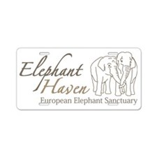 Logo Elephant Haven 200dpi Aluminum License Plate