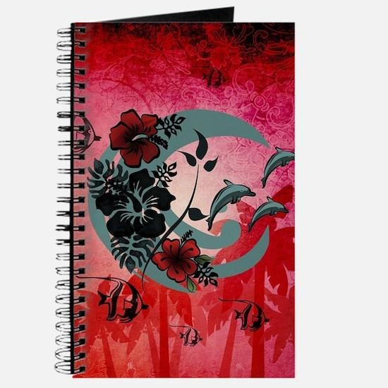Aloha, hawaiian design, palm and flowers Journal
