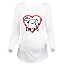 Estrela-Heart Long Sleeve Maternity T-Shirt