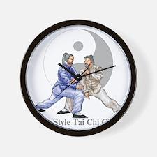 yingyangshoulderLight Wall Clock