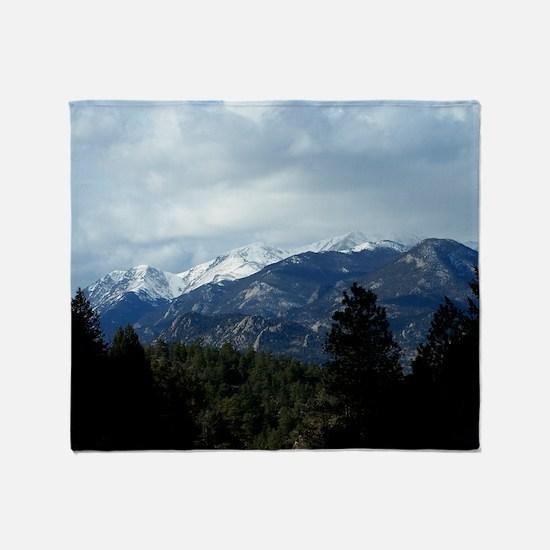 The Rockies Throw Blanket