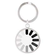 pw_dark_thin_1100 Round Keychain