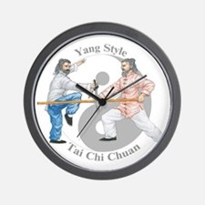 yyswordstaffLight Wall Clock