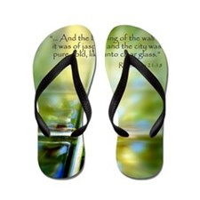 Glass Cross Revelation 21:18 Flip Flops