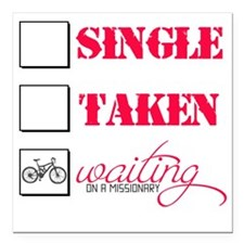 "singlewaiting Square Car Magnet 3"" x 3"""
