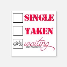 "singlewaiting Square Sticker 3"" x 3"""
