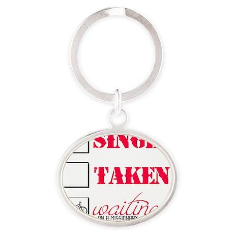 singlewaiting Oval Keychain