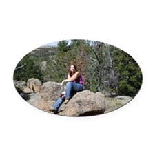 Dana on Rock Oval Car Magnet