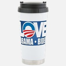 LOVE Obama Biden Stainless Steel Travel Mug