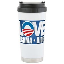 LOVE Obama Biden Travel Mug