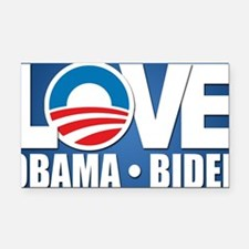 LOVE Obama Biden Rectangle Car Magnet