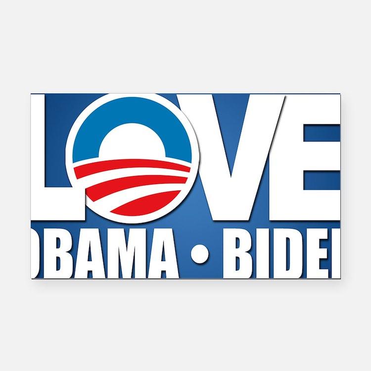 LOVE Obama Biden Rectangle Car Magnet