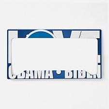 LOVE Obama Biden License Plate Holder
