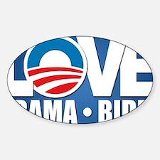 LOVE Obama Biden Sticker (Oval)