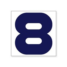 """number_8 Square Sticker 3"""" x 3"""""""