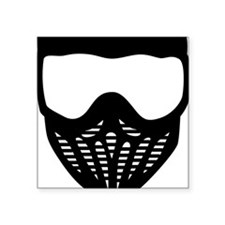 """paintball_mask Square Sticker 3"""" x 3"""""""