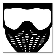 "paintball_mask Square Car Magnet 3"" x 3"""