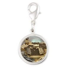 jfk cv framed panel print Silver Round Charm