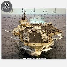 jfk cv framed panel print Puzzle