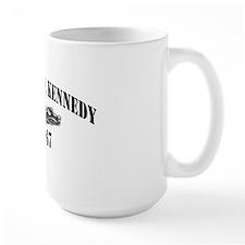jfk cva black letters Mug