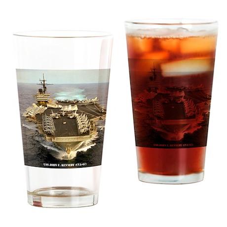 jfk cva framed panel print Drinking Glass
