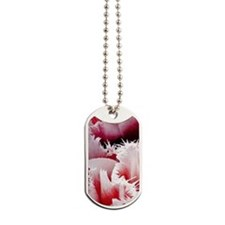 pink tulip 5x8 journal Dog Tags