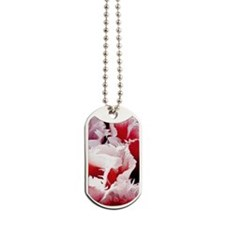 pink tulip itouch 4 Dog Tags