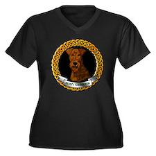 CELTIC-IRISH Women's Plus Size Dark V-Neck T-Shirt