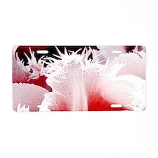 pink tulip sm framed print  Aluminum License Plate