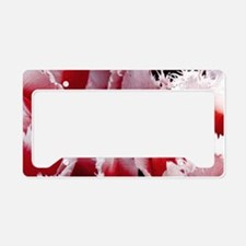 pink tulip sm framed print 4 License Plate Holder