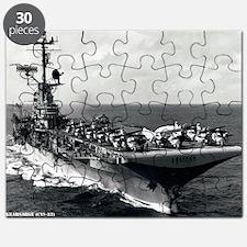kearsarge cvs large framed print Puzzle