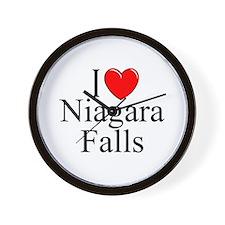 """""""I Love Niagara Falls"""" Wall Clock"""