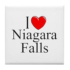 """""""I Love Niagara Falls"""" Tile Coaster"""