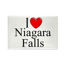 """I Love Niagara Falls"" Rectangle Magnet"