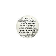 Machiavelli Lead Quote Mini Button
