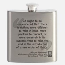 Machiavelli Lead Quote Flask