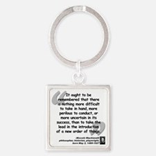 Machiavelli Lead Quote Square Keychain