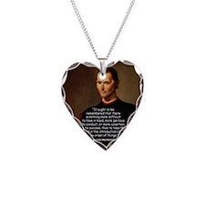 Machiavelli Lead Quote Color Necklace