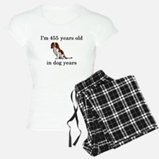 65 birthday dog years springer spaniel Pajamas