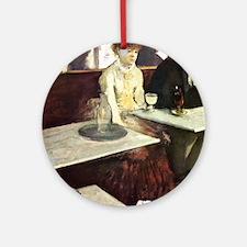 Edgar Degas Absinthe Round Ornament