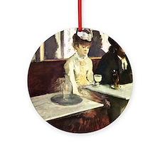 Edgar Degas AbsintheSC Round Ornament