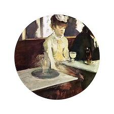 "Edgar Degas AbsintheSC 3.5"" Button"