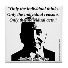 Ludwig von Mises - The Individual Tile Coaster