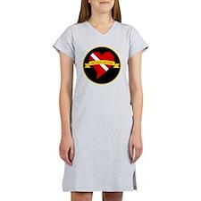 Love Heart Scuba Women's Nightshirt