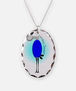 Respiratory Therapist Bird Necklace Oval Charm