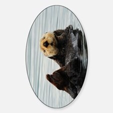 TabletSleeve_seaotter_2 Sticker (Oval)