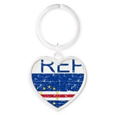 Cape_Verde Heart Keychain